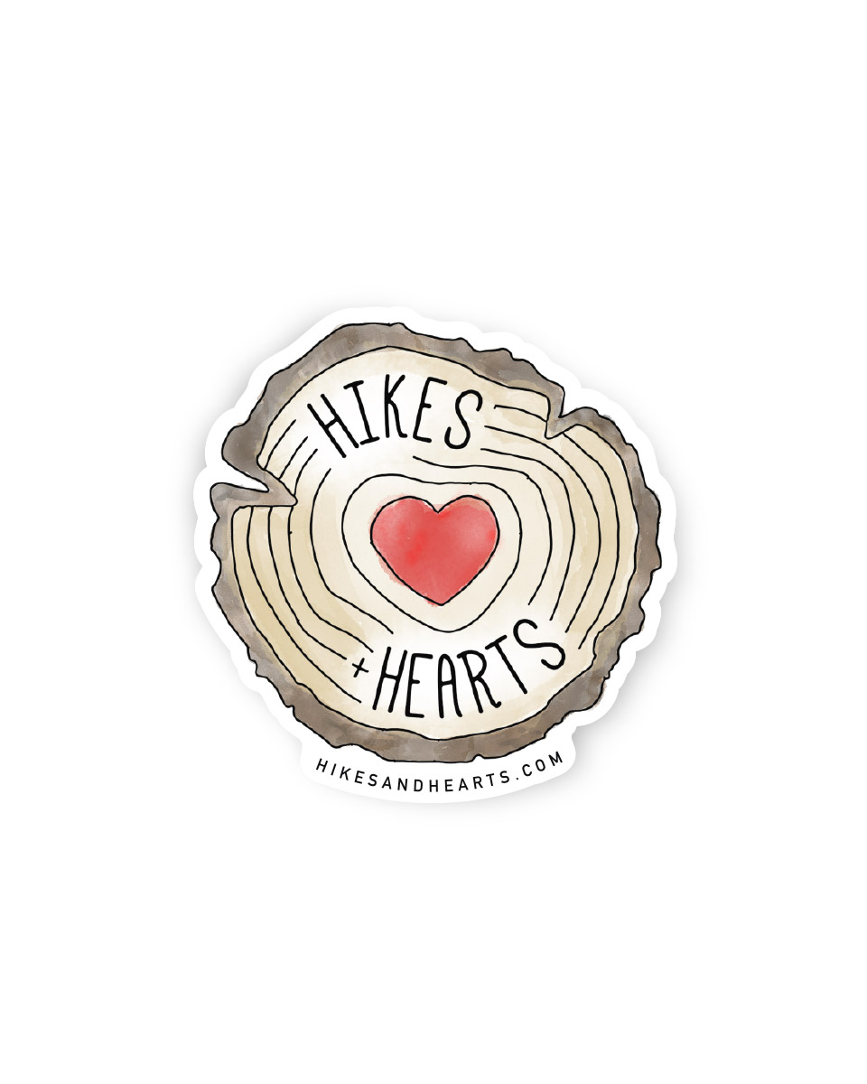 Hikes + Hearts sticker
